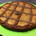 Cocoa and cream cheese tart