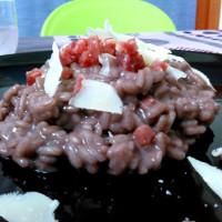 Risotto da nord a sud:briè,salame di Varzi e syrah siciliano